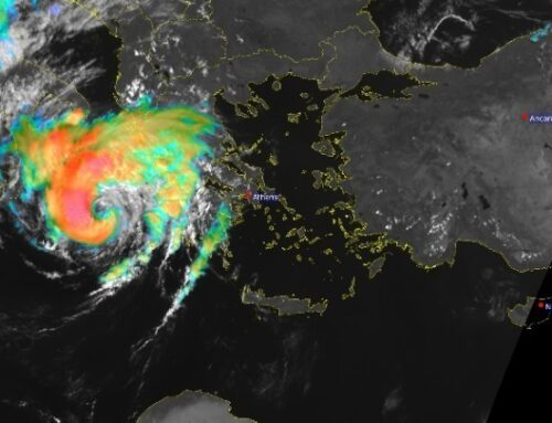 Ο «Ιανός» έχει «μάτι» 50 χιλιομέτρων και ανέμους με μέση ένταση 90 χλμ/ώρα