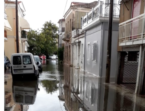 Πλημμύρισε και πάλι το Μεσολόγγι (VIDEO)
