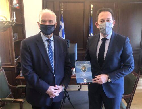 Ζητήματα του δήμου Μεσολογγίου έθεσε στον Στέλιο Πέτσα ο Κώστας Λύρος