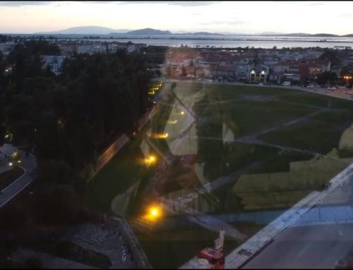 """Εντυπωσιακές εναέριες λήψεις του Κήπου των Ηρώων τη βραδιά της Aναπαράστασης της """"Ανατίναξης του Καψάλη"""" (VIDEO)"""