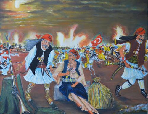 """ΜΕΣΟΛΟΓΓΙ: Έκθεση με έργα εμπνευσμένα από την """"Επανάσταση του 1821""""  του λαϊκού ζωγράφου Νώντα Ρεντζή"""