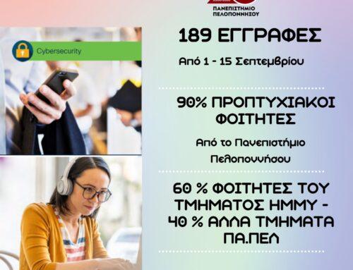 ΠΑΝ/ΜΙΟ ΠΕΛΟΠΟΝΝΗΣΟΥ: Ξεπέρασαν κάθε προσδοκία οι αιτήσεις για τα εκπαιδευτικά προγράμματα κυβερνοασφάλειας της Cisco NetAcad