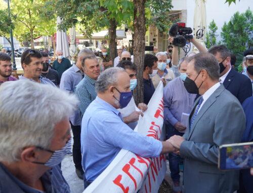 ΑΓΡΙΝΙΟ: Ο διάλογος του Σπήλιου Λιβανού με διαμαρτυρόμενους αγρότες της Ο.Α.Σ.